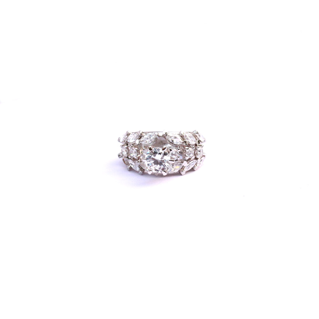 Empress Glam Cubic Zirconia Solitaire Ring - Boldiful