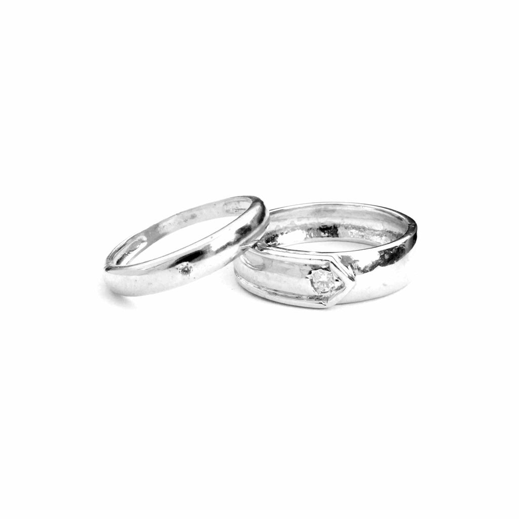 Eternal Silver Couple Bands - Boldiful