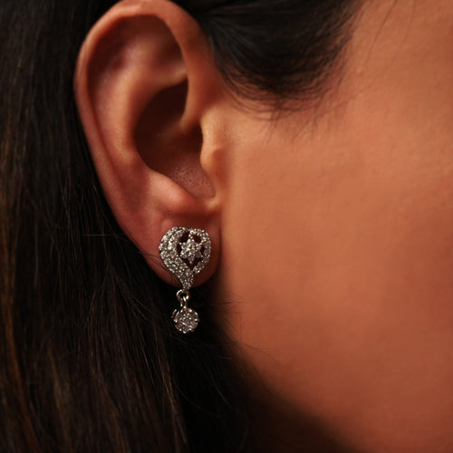 Fringe Heart Silver CZ Earrings are classy, dainty and elegant, which makes them perfect for everyday wear
