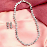 Plush Halo Silver Necklace Set - Boldiful