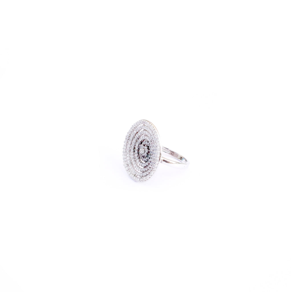 Hypnotic Silver Cubic Zirconia Ring - Boldiful