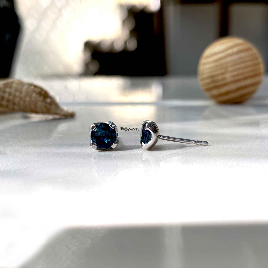 London Blue Topaz Ear Studs