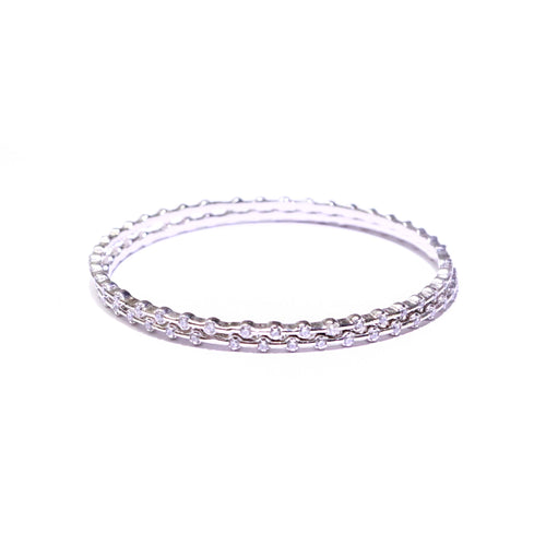 Mellifluous Dainty Silver Bangles