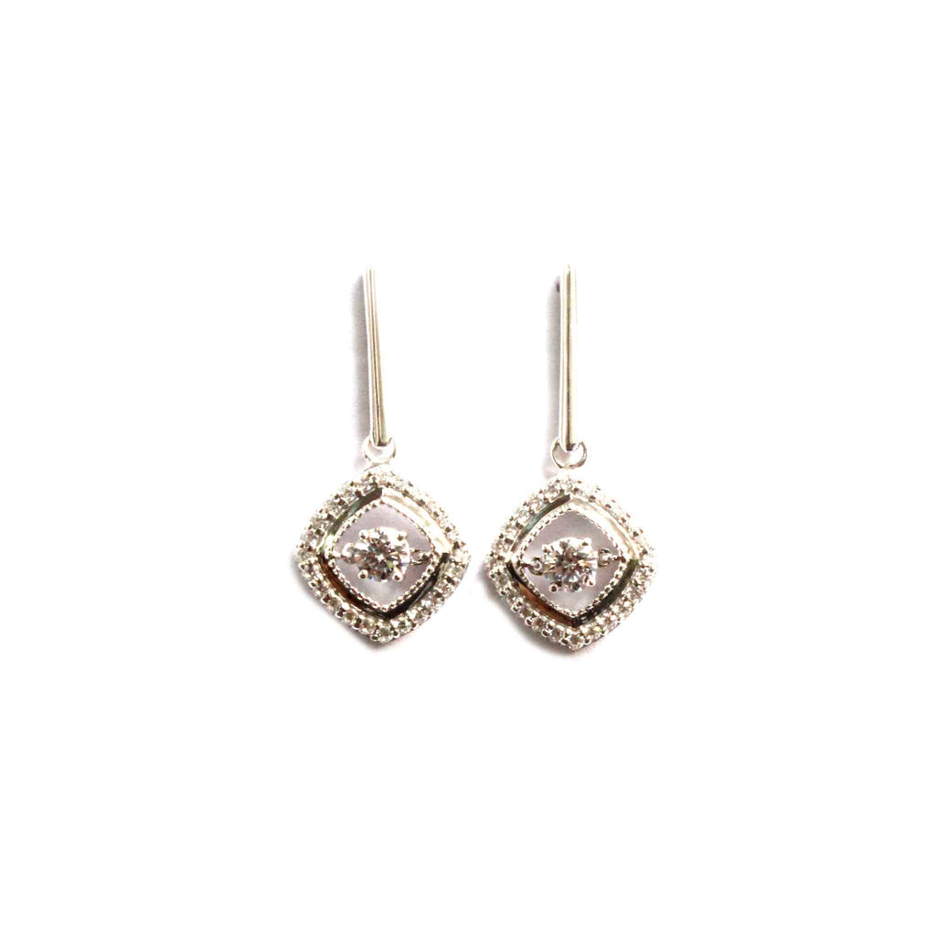 Oblong 925 Silver Earrings