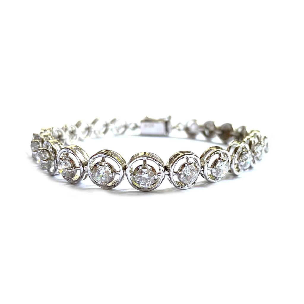 Ornate 925 Silver Tennis Bracelet