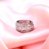 Palmy Cubic Zirconia Eternity Band - Boldiful
