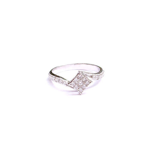 Petite Squared Silver Ring