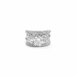Pixie Filigree Silver Solitaire Band - Boldiful