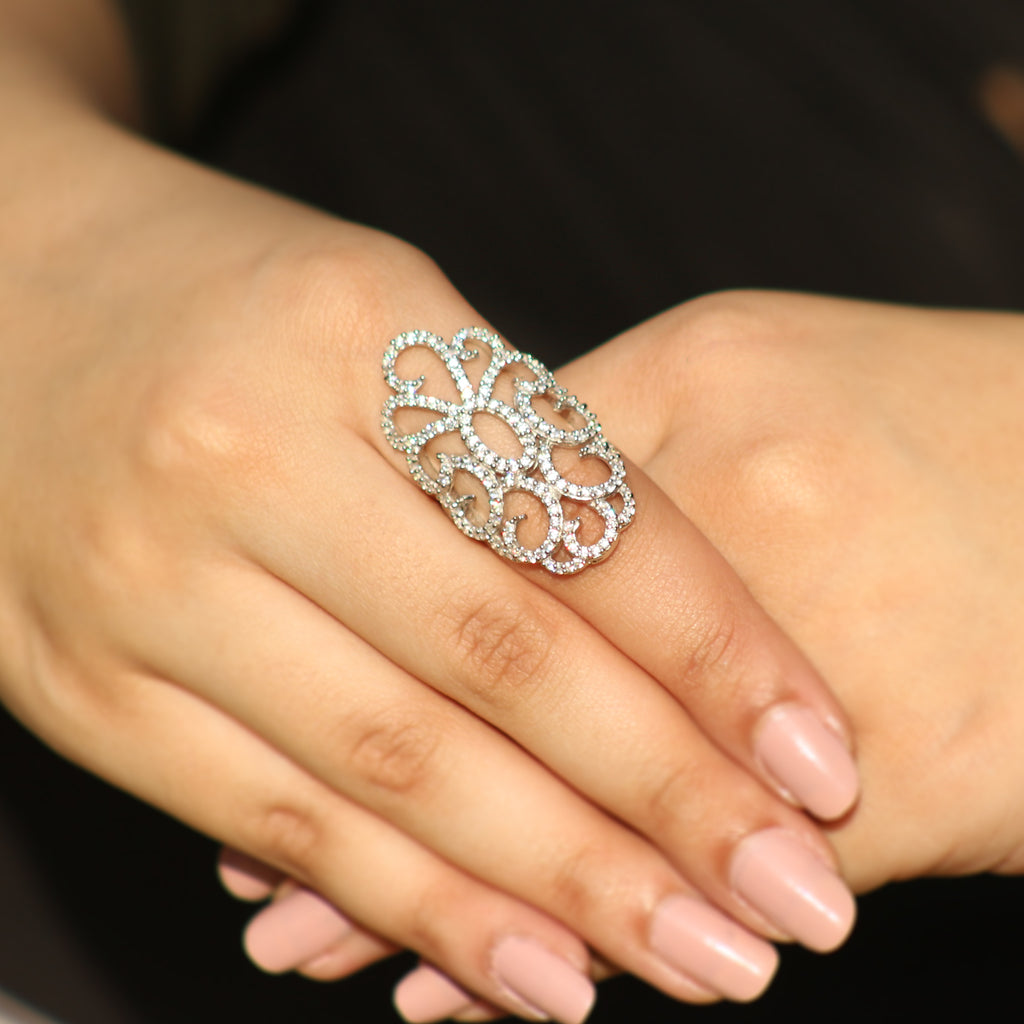 Posh Chunky Silver Ring - Boldiful