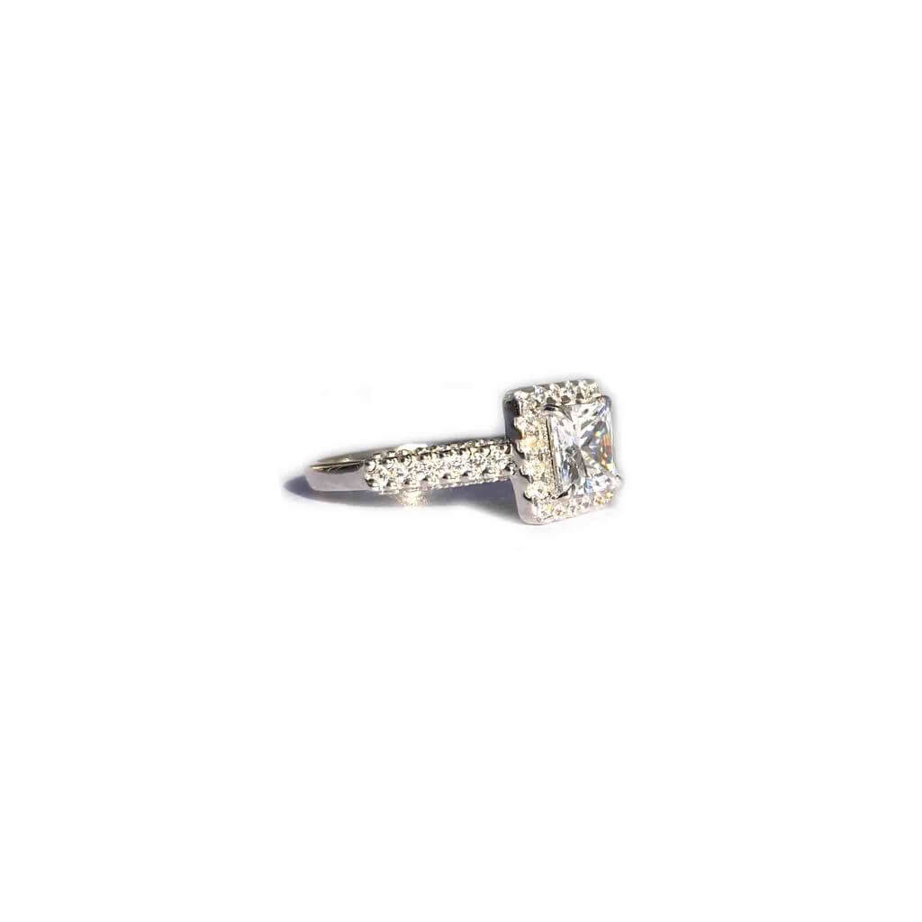 Prim Silver Princess Cut Ring