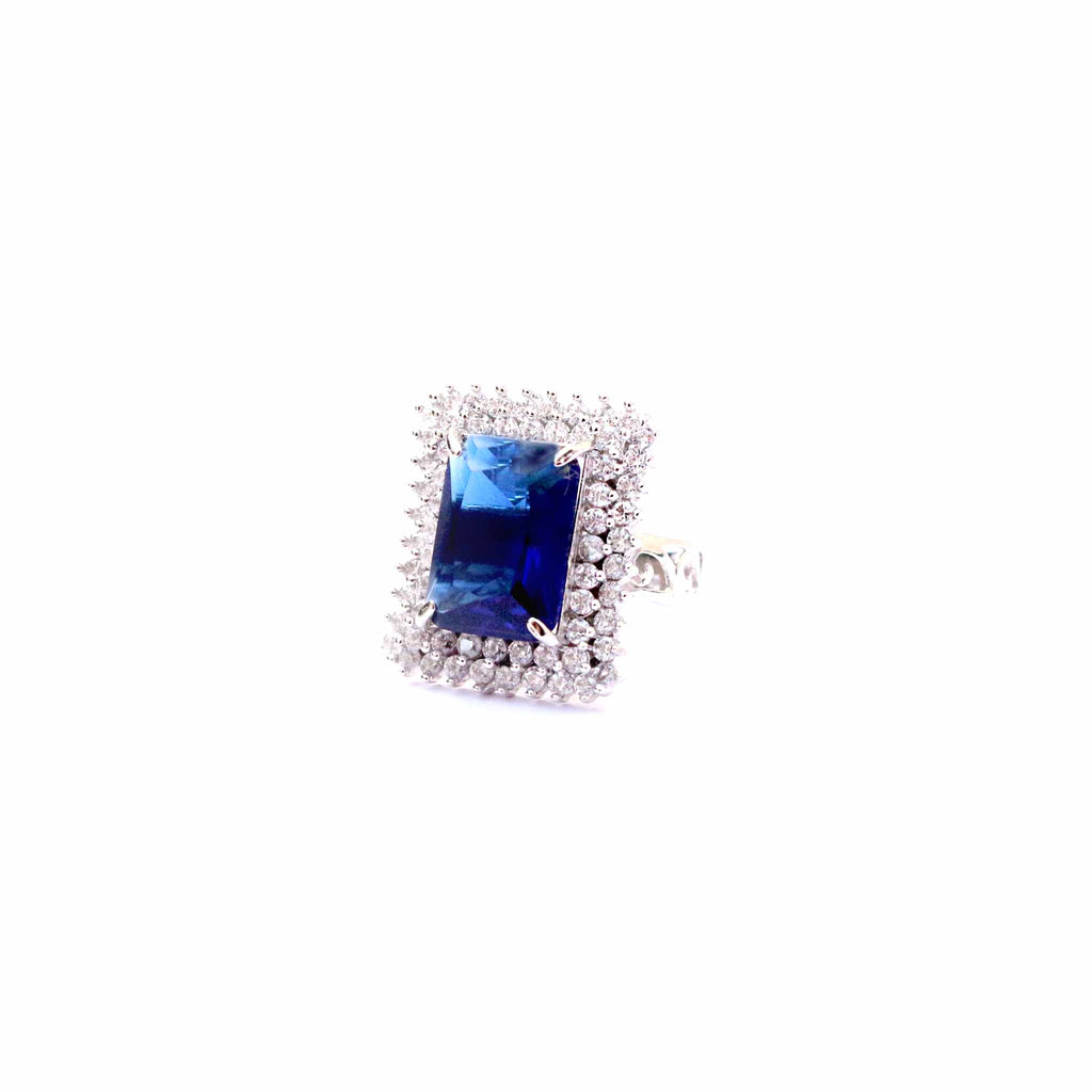 Primo Emerald Cut Silver Ring - Boldiful