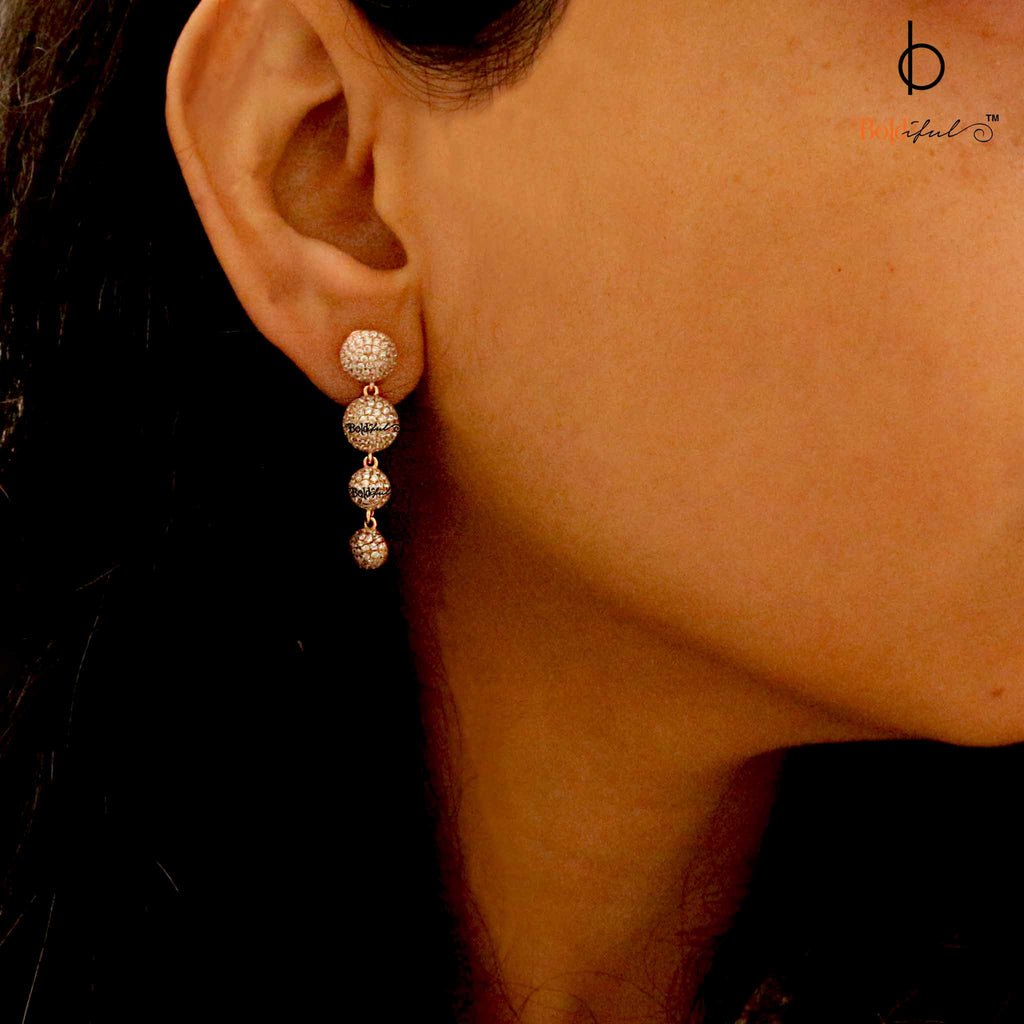 Rondure Zirconia Sterling Silver Earrings - Boldiful