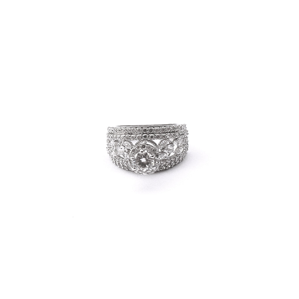 Royal Solitaire Sterling Silver Ring - Boldiful