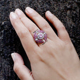 Rune Chunky Cocktail Ring - Boldiful