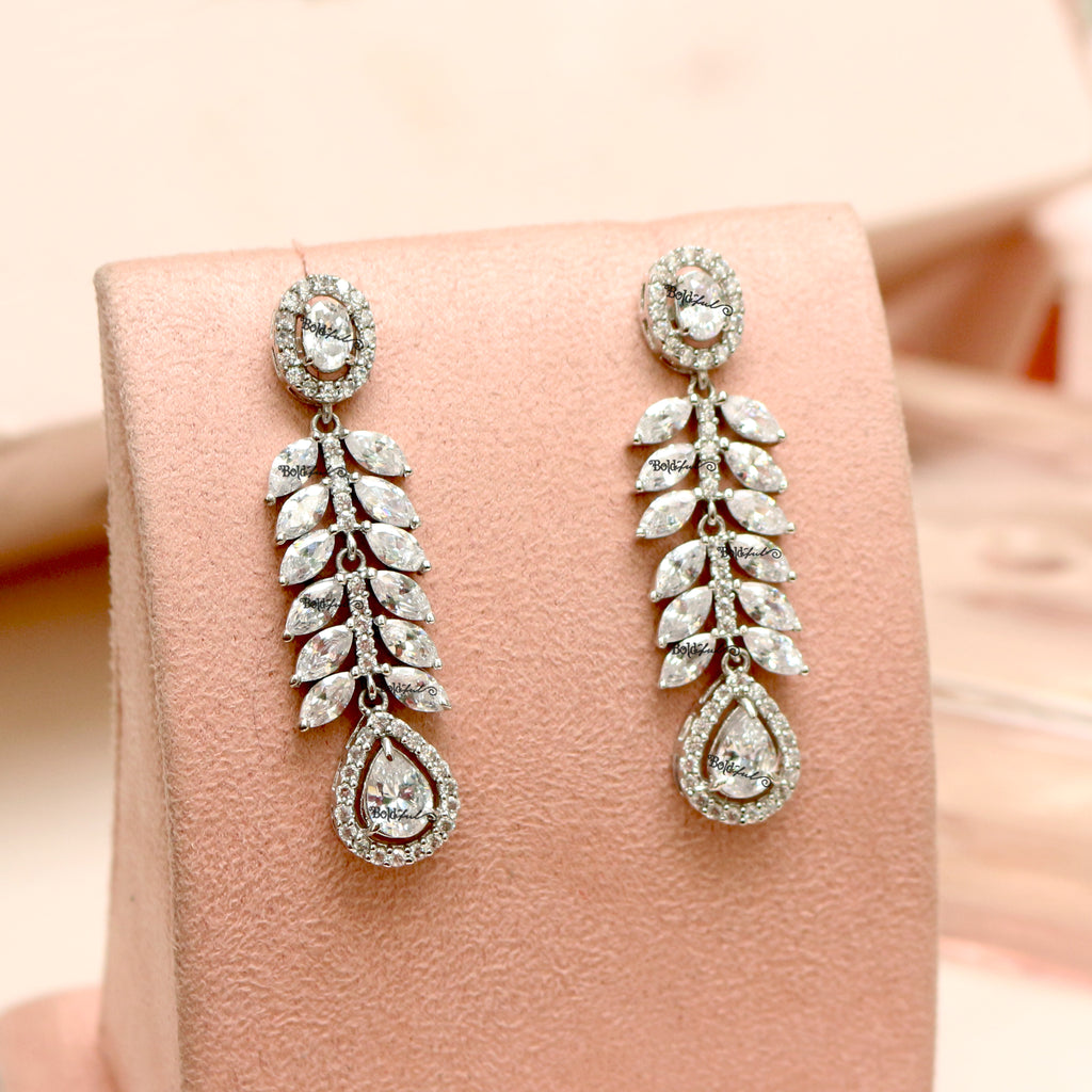 Spiffy Long Silver Earrings - Boldiful