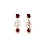 Spiffy Sterling Silver Garnet Earrings