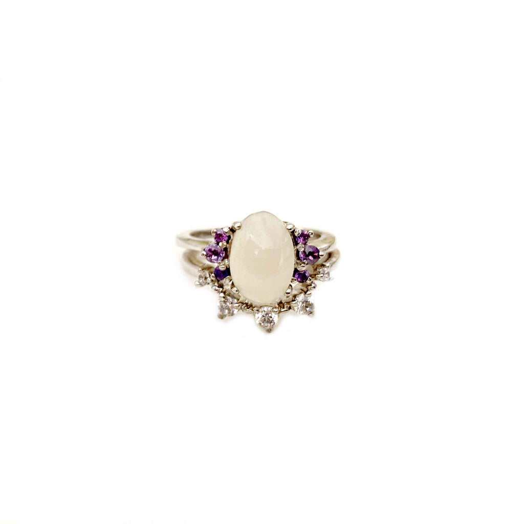 Suave Moonstone Dainty stackable Rings - Boldiful