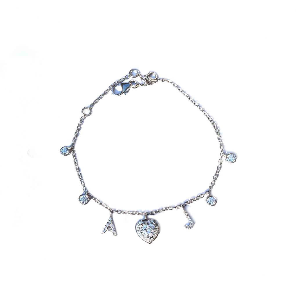 Sway Initials Silver Charm Bracelet