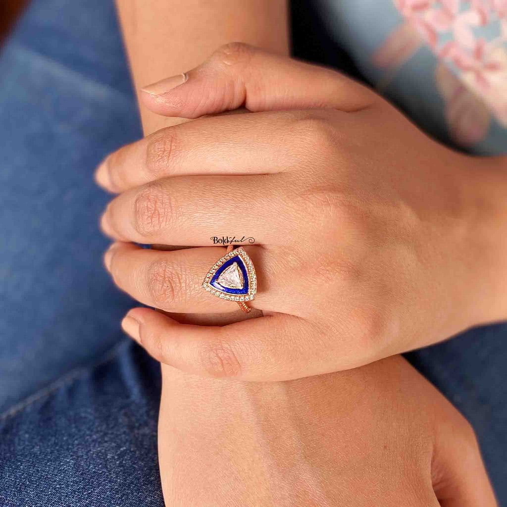 Triad Ring with Stackable Band