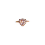 Trillion Morganite Minimal Ring