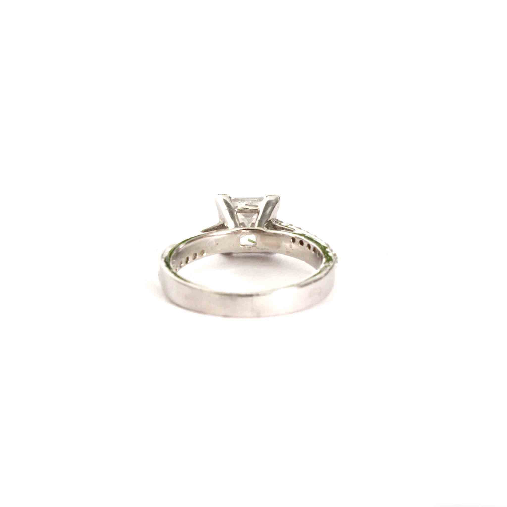 Willowy Princess Cut Ring - Boldiful
