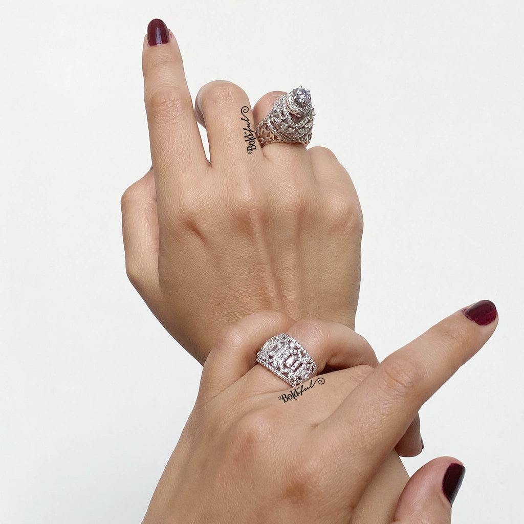 Zesty Statement Cocktail Ring