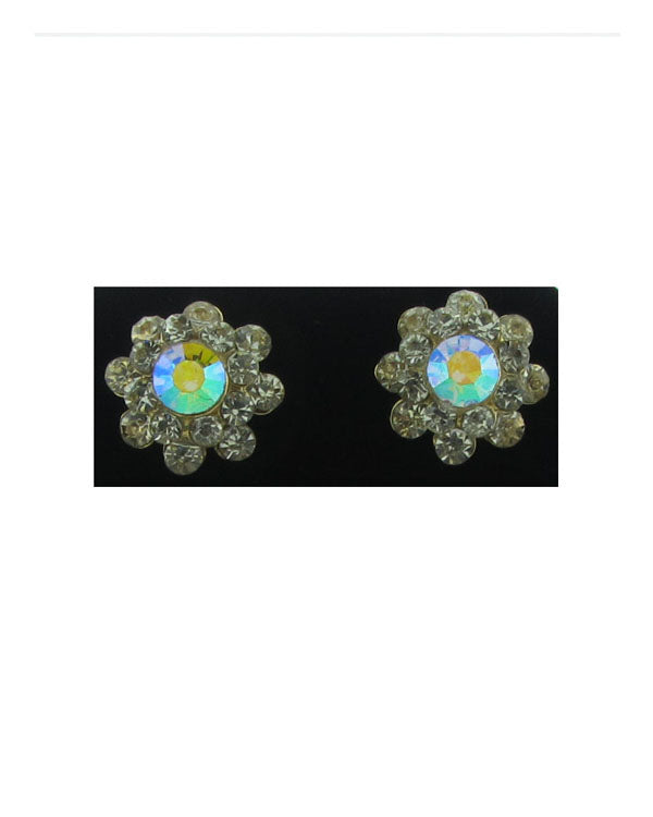 Rhinestones stud earrings
