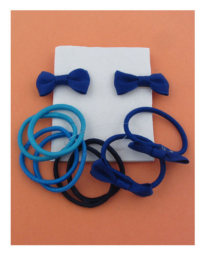 Bow clip and rubber band set