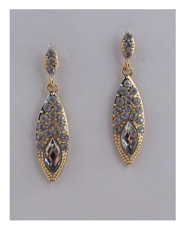 Drop earrings w/rhinestone