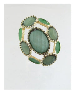 Adjustable faux stone ring