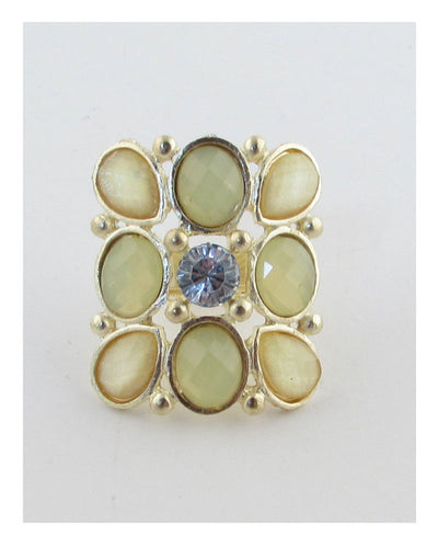 Faux stone adjustable ring