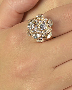 Stone Studded Round Shaped Ring