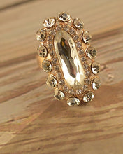 Elliptical Ring with Stone Accents