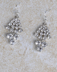Crystal Studded Chandelier Style Earrings