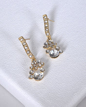 Crystal and Stone Drop Earrings