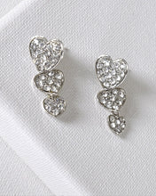 Heart Shaped Drop Earrings