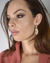Onyx Stone and Rhinestone Embellished Drop Earrings