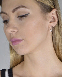 Ring Design Crystal Embellished Stud Earrings