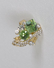 Crystal and Rhinestone Studded Adjustable Ring