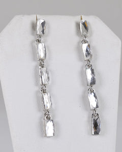 Square Shape Onyx Crystal Studded Drop Earrings