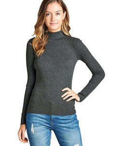 Ladies foldover turtleneck top