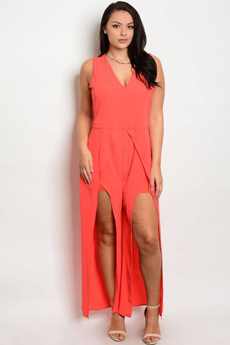 Plus size fashion maxi skirt overlayer romper