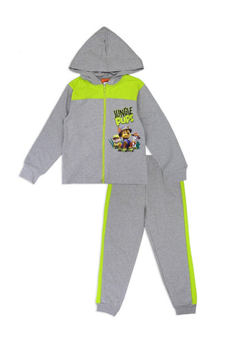 Boys paw patrol 4-7 2-piece zip-up fleece set
