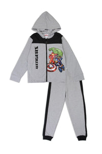 Boys avengers 2-4T 2-piece zip-up fleece set