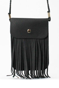 Fringed cross body bag