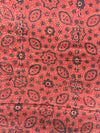 AJRAKH FABRIC : ALIZARIN RED : BLACK