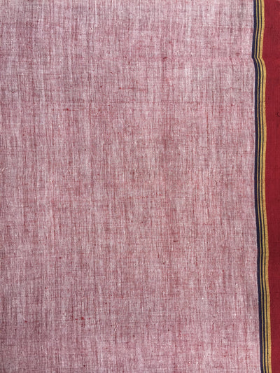 CROSS COLOUR DUPATTA : KORA : ALIZARIN RED