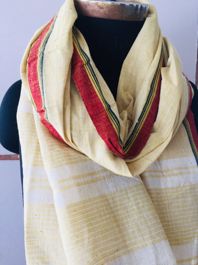 CROSS COLOUR DUPATTA : KORA : ANAR YELLOW