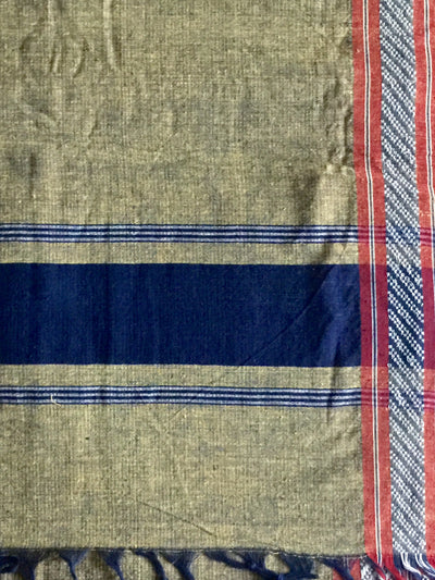 LIGHTWEIGHT CROSS COLOUR DUPATTA : DARK INDIGO : ANAR YELLOW