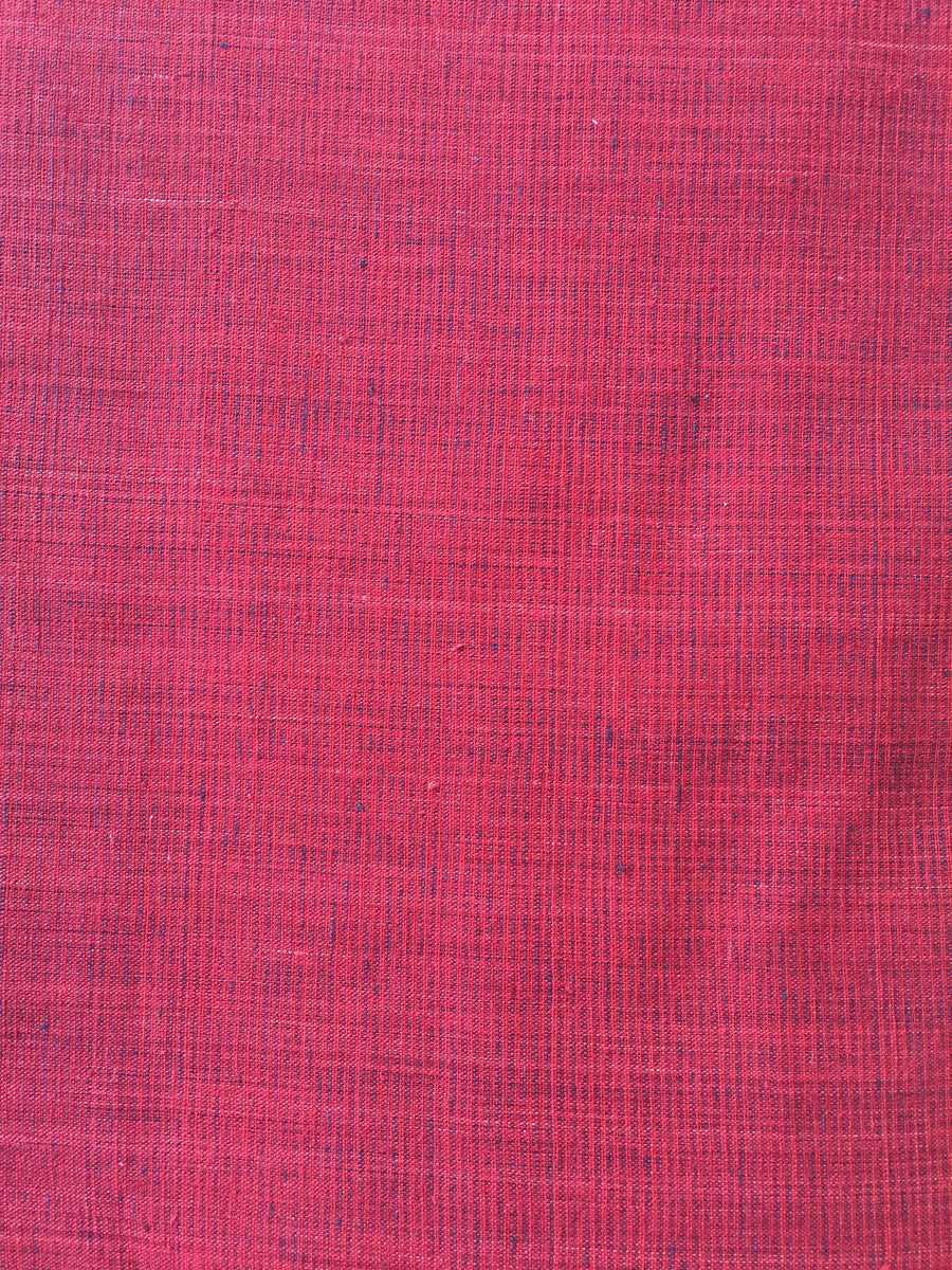 GEOMETRIC FABRIC : ALIZARIN RED : DARK INDIGO